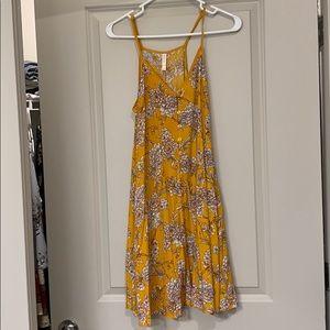 Fall floral mini dress